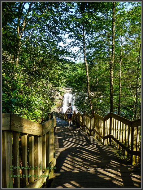 Boardwalk to Blackwater waterfalls.