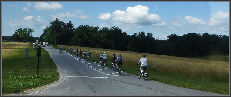 Biking at the Gettysburg Battlefield
