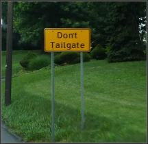 Don't Tailgate