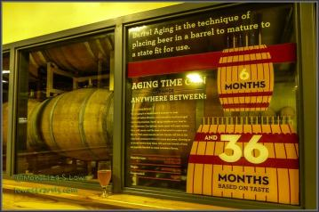 Aging beer in wood barrels adds complexity to the flavor