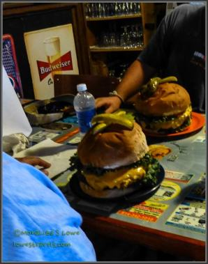 Here is what you face in the 2 lb burger challenge