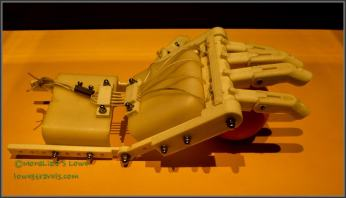 A prosthetic hand created using 3D printing