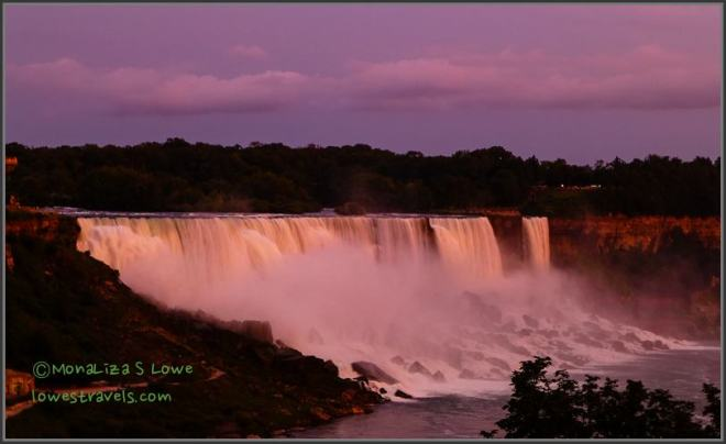 Sunset at American Falls