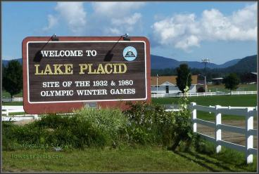 Lake Placid welcome sign