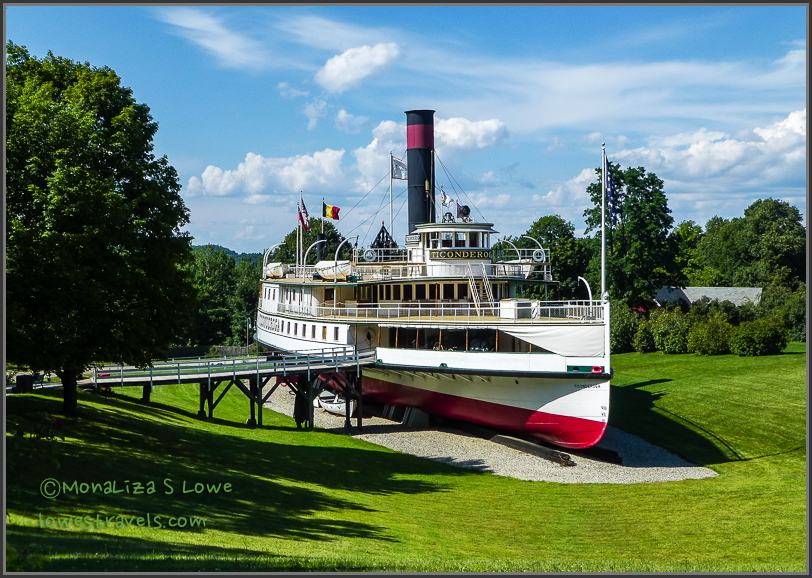 restored 220-foot steamboat Ticonderoga
