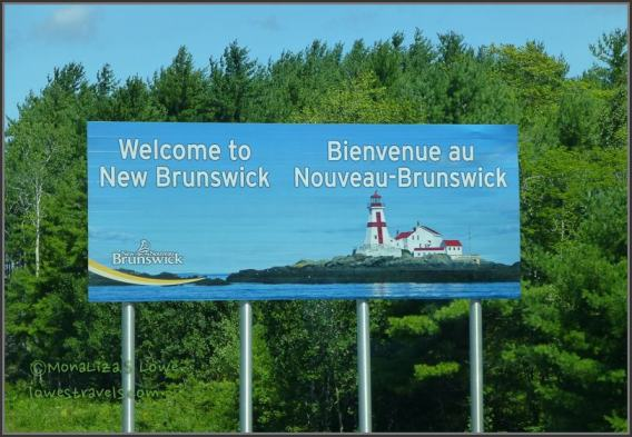 New Brunswick, Welcome sign