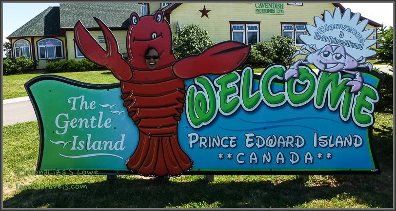 PEI Welcome Sign