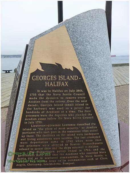 Monument to Imprisoned Acadians on Georges Island, Bishops Landing, Halifax
