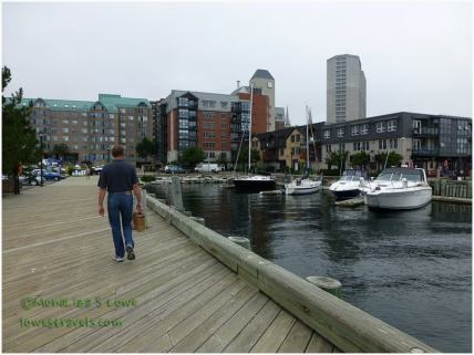 Shopping at the waterfront