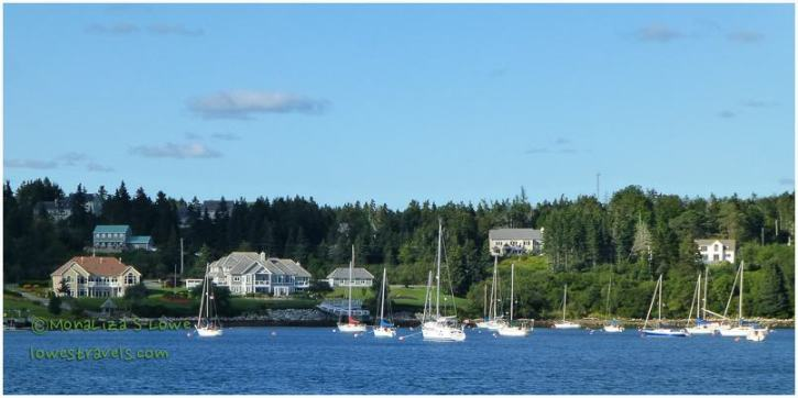 Just one of the many beautiful harbors along the eastern shore.