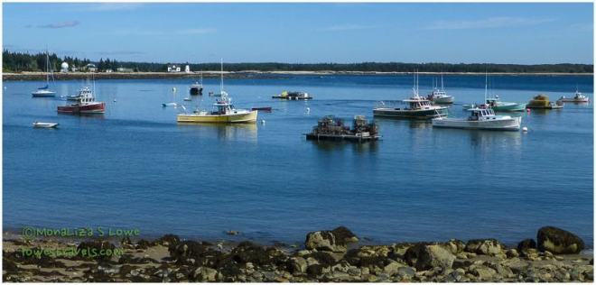 Lobster boats and traps