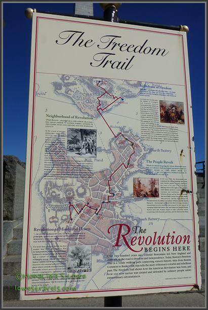 Map of the Freedom Trail