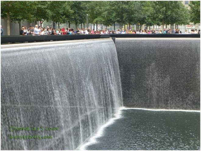 Thirty-foot waterfalls,9/11 memorial