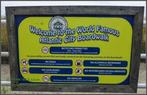 Welcome sign at the Atlantic City Boardwalk