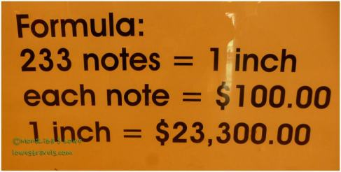 How tall are you in $100 Notes