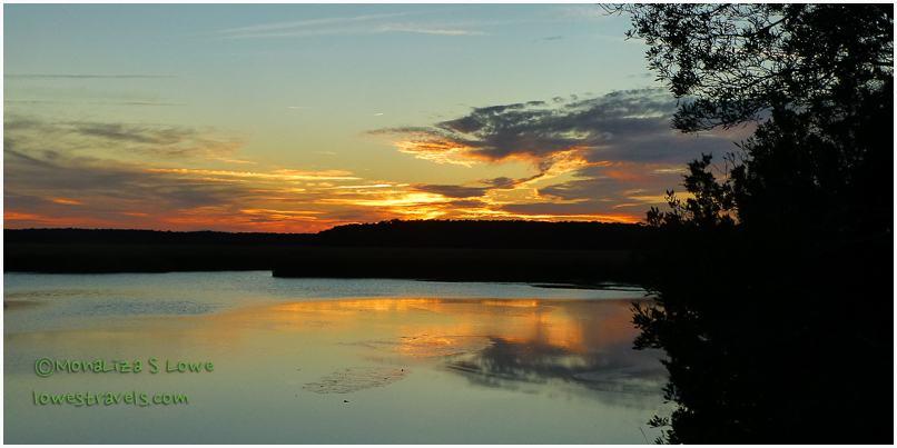 Fort McAllister Historic State Park Sunset