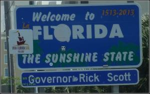 Welcome sign, Florida State