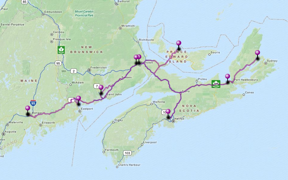 Travels in the Canadian Maritime Provinces