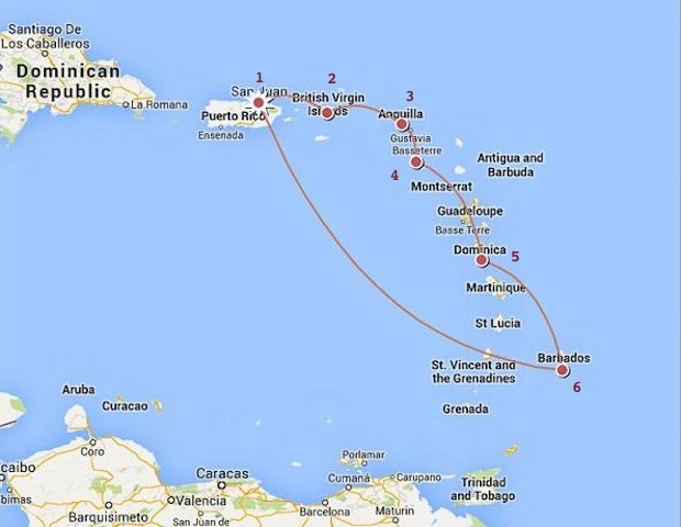 Hopping On A Really Big Boat Part The Lowes RV Adventures - Southern caribbean islands