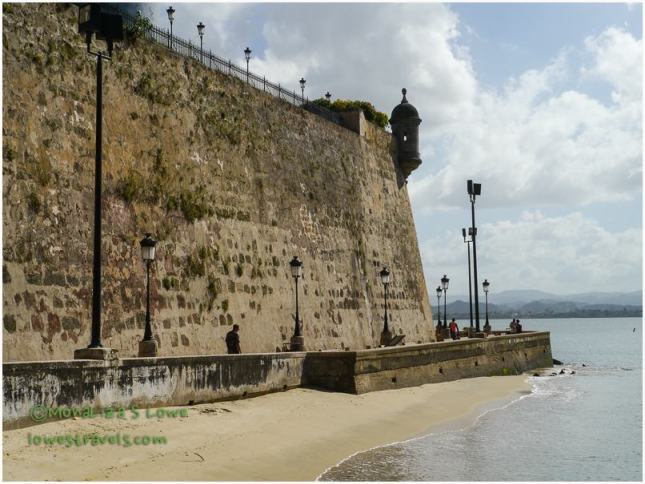 High wall, Old San Juan