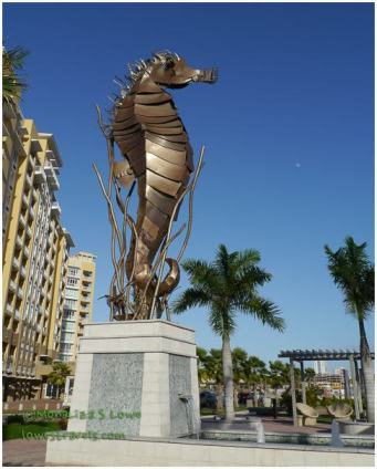 Sea Horse sculpture,Bahia Urbana