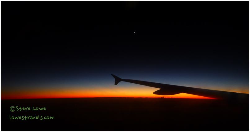 Sunset viewed from plane