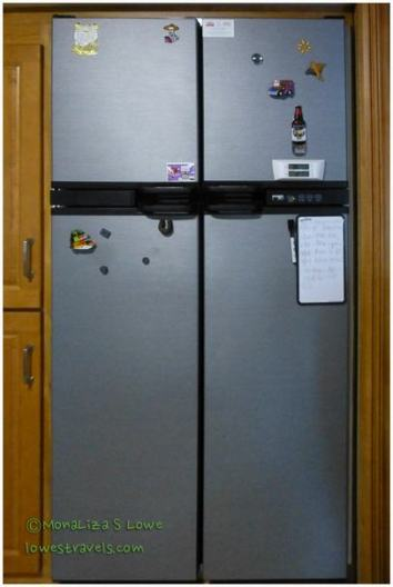 Residential Refrigerator in an RV