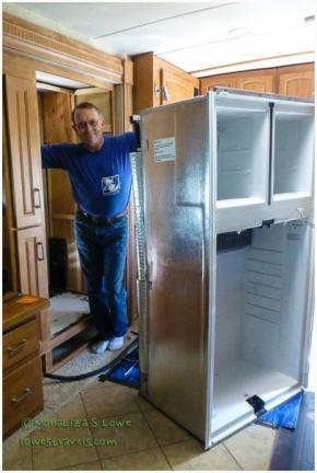 installing a residential refrigerator