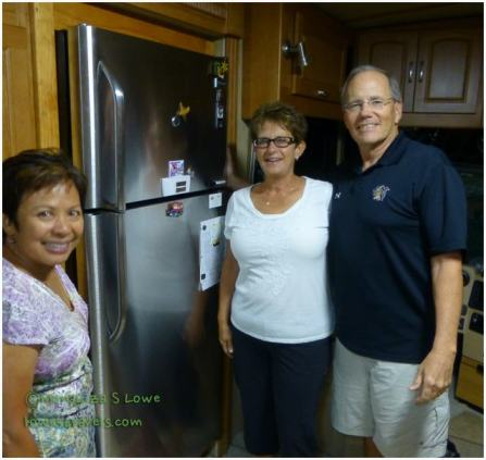 Residential refrigerator in RV