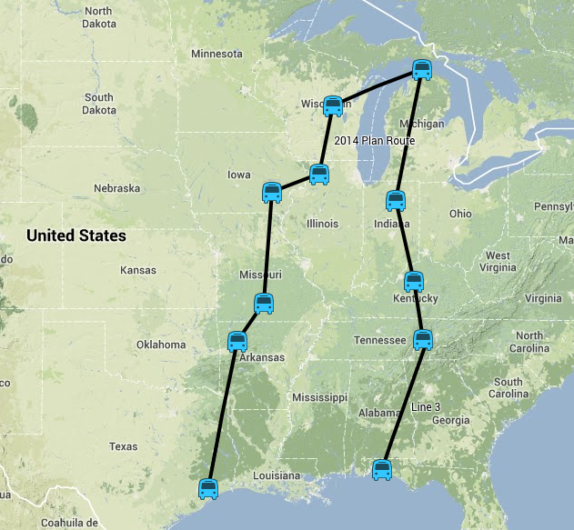 2014 planned route