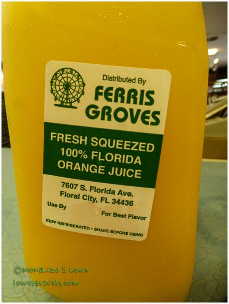 Ferris Groves, orange Juice