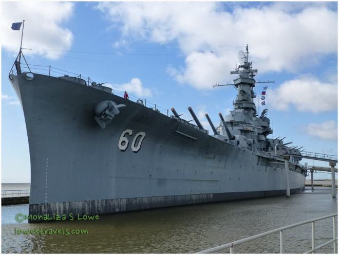 The USS Alabama on display in Mobile, AL