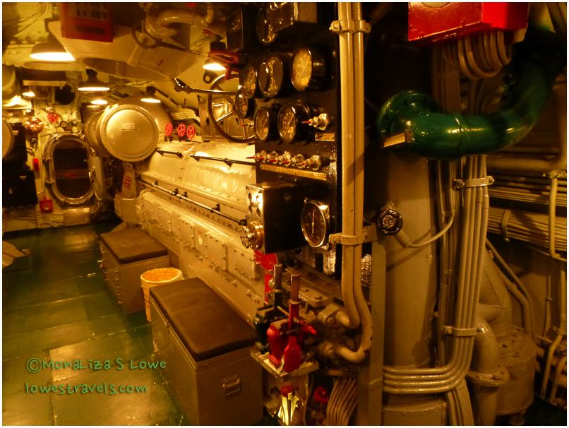 Engine room of the USS Drum