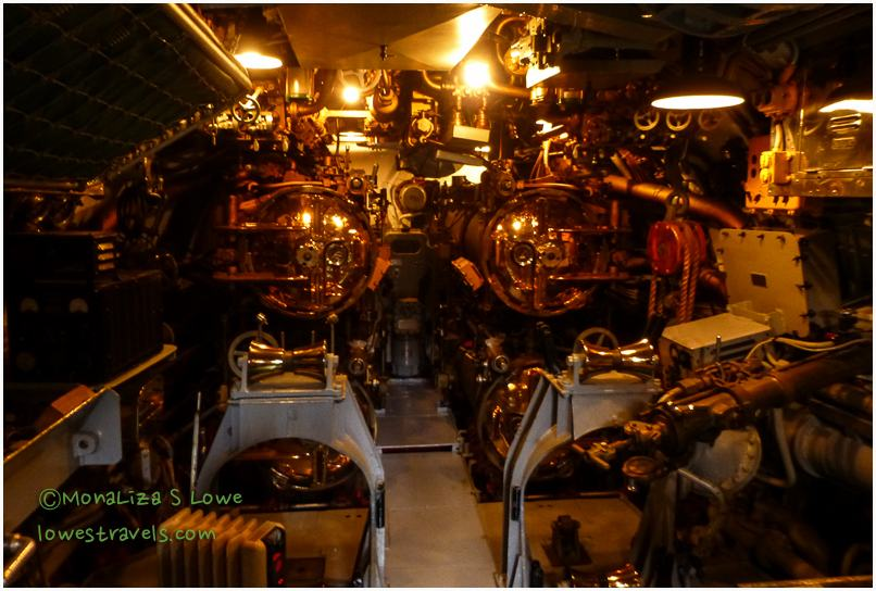 Torpedo room of the USS Drum