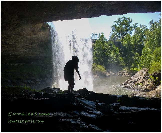 Under Noccalula Falls