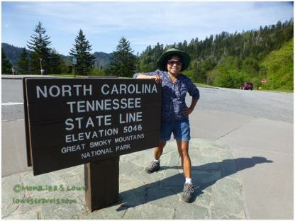 Newfound Gap, TN and NC Border