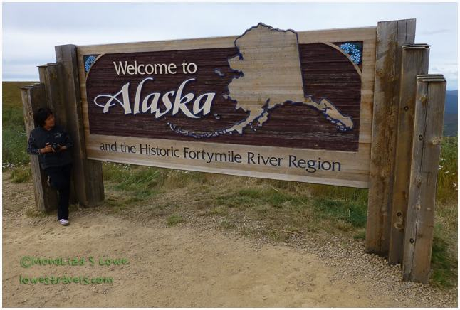 Welcome sign, Alaska