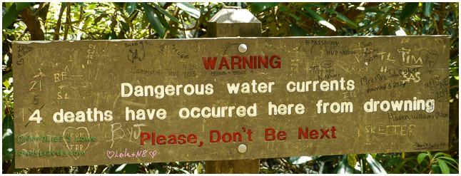 Warning at Abrams Falls