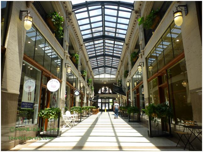 Inside Grove Arcade, Asheville