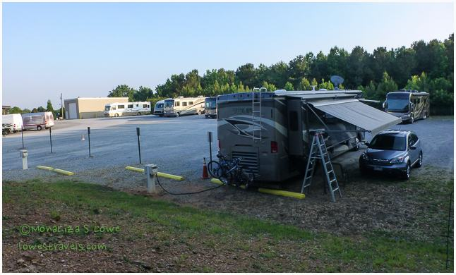 RV parking at Gaffney Service Center