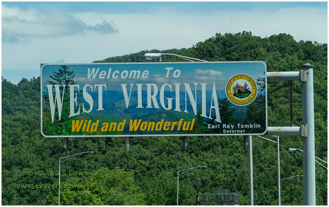 West Virginia Welcome sign
