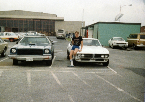 …put into the Pontiac Firebird he's sitting on. The blue Malibu is his too