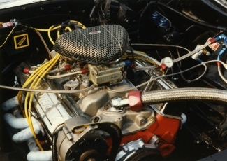 350ci nitrous oxide-injected Chevy engine...