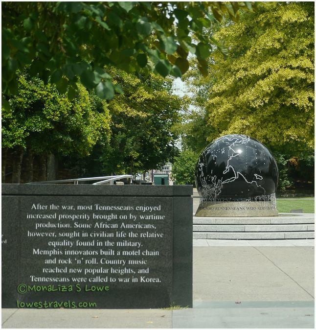 black granite globe