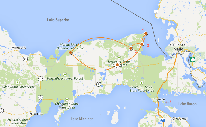 Upper Peninsula Map