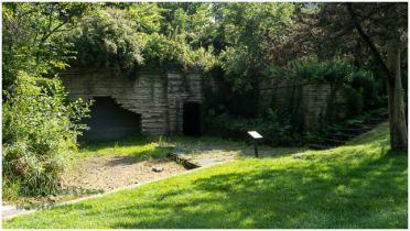 Underground boathouse