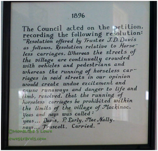 Resolution banning motor vehicles