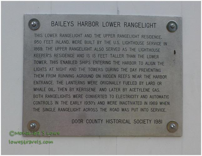 Baileys Harbor Range Light