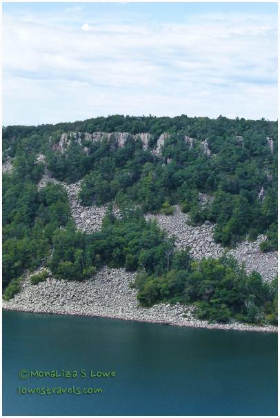 East Bluff loose rocks