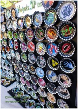 Very artistic bottle caps